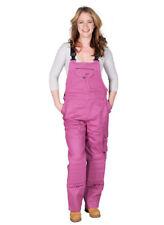 Rosies Womens Dungarees - Dark Pink Ladies Work Overalls Raspberry Workwear
