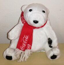 Peluche Coca Cola 10 cm orso bianco pupazzo originale white bear plush soft toys