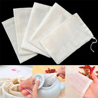 10 Pcs 8x10cm Large Cotton Muslin Drawstring Reusable Bags for Soap Herbs Tea PB