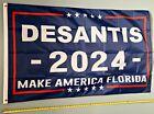 RON DESANTIS FLAG *FREE SHIP USA SELLER! Make America Florida 2024 USA Sign 3x5