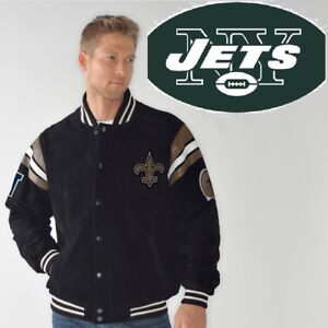Officially Licensed NFL G-III Suede Jacket 264908 (S, NEW YORK JETS)