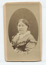 CDV PORTRAIT PLUMP WOMAN. SAN FRANCISCO, CALIFORNIA.
