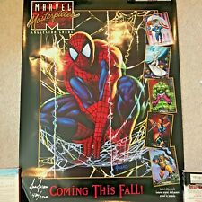 1992 Spider Man Poster Marvel Masterpiece Signed 480/2500 Joe Jusko NEW LmtEd
