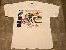 Vintage 90s 1991 Pro Football Hall Of Fame Worn Graphic T-Shirt Adult Size Large