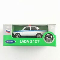 Welly VAZ LADA 2107 Russian Police Car 1:60 Scale Die-Cast Metal NEW