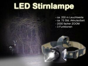 Taschenlampe Cree LED Kopf-Lampe Outdoor Stirn-Lampe 170m Camping Set Arzt