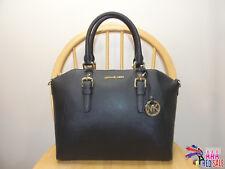 NWT New Michael Kors Handbag Ciara Large Top Zip Satchel Black Leather Purse