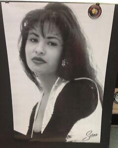 """Selena Quintanilla Black White Photo Graphic 24"""" x 36"""" Poster Piranha Records"""