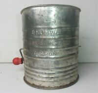 Vintage BROMWELL'S Measuring Sifter 5 Cups Collectible Kitchenware