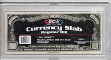 (1) BCW CURRENCY SLAB FOR REGULAR BILLS