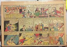 1940 Superman color strip (#29) Siegel and Shuster DC comics nat'l periodicals