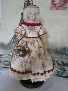 """Dress, hat, purse for 15"""" French Fashion doll Huret"""