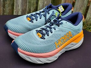 Hoka One 1110519/BHBI BONDI 7 Blue Hazel Black Iris Running Shoes Women Sz 10.5