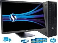 "HP ELITE  800 G1 i5-4570@3.2GHZ 16GB-240 SSD HDD WIN10/2GB-nvidiaGT710 23"" LCD"