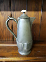 Antique Victorian Pewter Britannia Metal Coffee Pot -  John Round & Sons