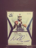 2012 Leaf Ultimate Nick Foles Draft Inscription #NF1 RC Auto #/25