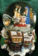 CHRISTOPHER RADKO MUSICAL CHRISTMAS SNOWGLOBE / WATERBALL- SLEIGHRIDE