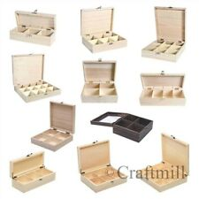 Wood wooden TEA bag BOX CHEST 3, 4, 6, 8, 9, or 12 compartments! Fits Twinings !