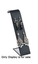 Leatherette Earring Displayer In Black 2 W X 3 12 L X 7 12 H Inch Case Of 10