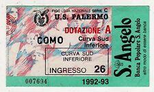 23884 Biglietto stadio - camp. 1992-93 Serie C - Palermo Como - La Favorita