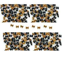 100 Rhinestones GOLD Tiny new lots Arts Crafts BOWS