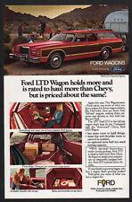 1977 FORD LTD Wood Panel Station Wagon - Airstream -  VINTAGE AD