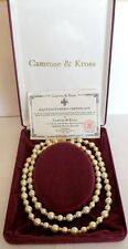 JACQUELINE KENNEDY DOUBLE STRAND PEARL NECKLACE CAMROSE & KROSS NIB