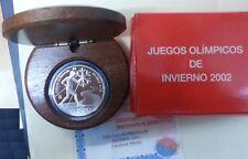 10 EUROS Plata ESPAÑA año 2002. Juegos olímpicos de Invierno. Peso 27 gr.