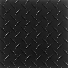 ".063 Matte Black Powdercoated Aluminum Diamond Plate Sheet 6"" x 48""  QTY: 3"