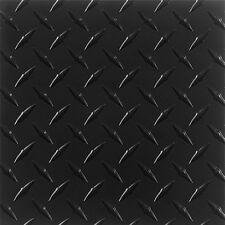 ".063 Matte Black Powdercoated Aluminum Diamond Plate Sheet 4"" x 96"""