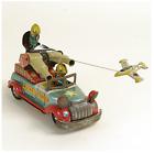 50s MARUSAN ROCKET RANGER World War II US Army Car Friction Tin Toy Japan FS EMS