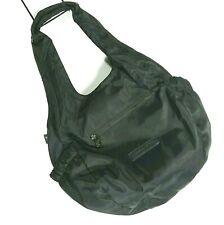 Co-Lab Black Hobo Handbag Shoulder Purse Tote Nylon End Pockets Roomy Slouchy