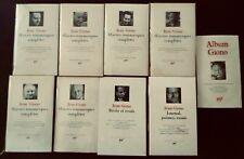Jean GIONO:Oeuvres romanesques,récits,essais,journal,poésies,Album:9 vol.Pléiade