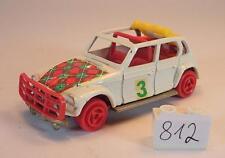 Majorette 1/60 Nr. 231 Citroen Dyane Rallye weiß rote Räder #812
