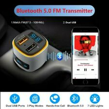 Bluetooth 5.0 FM Transmitter Universal Dual USB Auto Adapter Charger MP3 Player