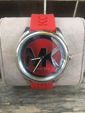 MICHAEL KORS Janelle Three-Hand Berry Silicone Watch MK7144; 100% Authentic