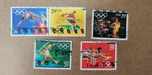 USA Olympics Used Stamp 5pcs