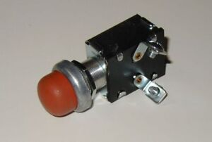 Push Button Start Switch w/ RED Rubber Button cover b