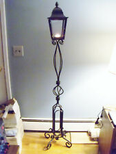 """Candle Lantern Lamp Pedestal Pillar Twisted Iron Stand 66"""" Tall Torchiere Holder"""