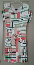The Webster Miami at Target Tropical Mondrian Op Art Dress Graphic Peach Green S
