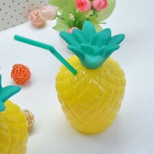 Plastic Pineapple Drink Cups Luau Beach Tropical Party Barware