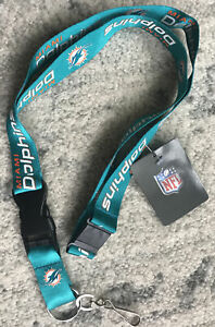 NFL NWT KEYCHAIN LANYARD- MIAMI DOLPHINS - CURRENT LOGO