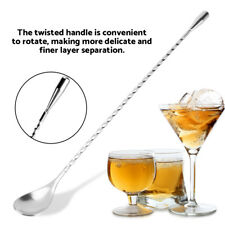 Stainless Steel Bar Wine Cocktail Mixing Twist Spoon Long Handle Stirring Tool