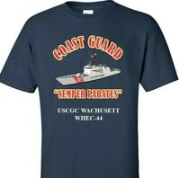 USCGC WACHUSETT  WHEC-44 *COAST GUARD  VINYL PRINT SHIRT/SWEAT