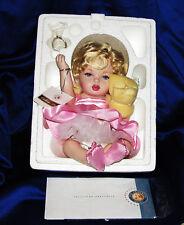 FRANKLIN MINT MARILYN MONROE PORTRAIT PORCELAIN BABY DOLL PINK COA NEW W/Shipper