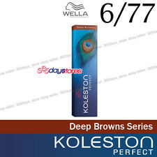 "Wella Koleston Perfect Permanent Hair Color Dye 60g Deep Brown "" 6/77 """