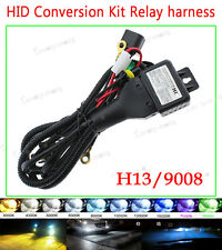 35W/55W Car HID Headlight KIT Bi Xenon H13 9008 Hi/Lo Relay Wiring Harness 12V