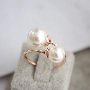 HOT Trend Perle Choker Ring Gold 18K vergoldet Geschenkidee Valentinstag