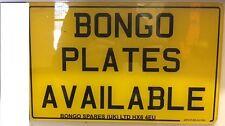 Mazda Bongo/Ford Freda Registration/Number Plate WITHOUT BADGE