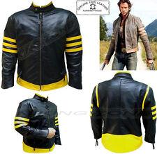 X-Men Wolverine Stile Uomo Nero / Yelo Moda di Qualità Analene Giacca di Pelle